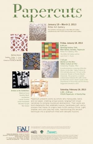 Papercuts at Florida Atlantic University
